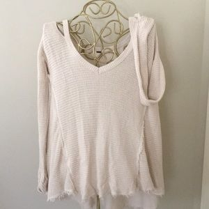 Free People Waffle Knit Cold Shoulder Tunic